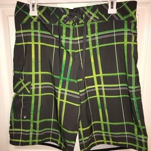 Mossimo Plaid Board Shorts Bathing Suit